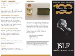 JSLF Trifold Brochure November 2014 Front